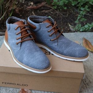 Shoes - Grey chukka style shoes